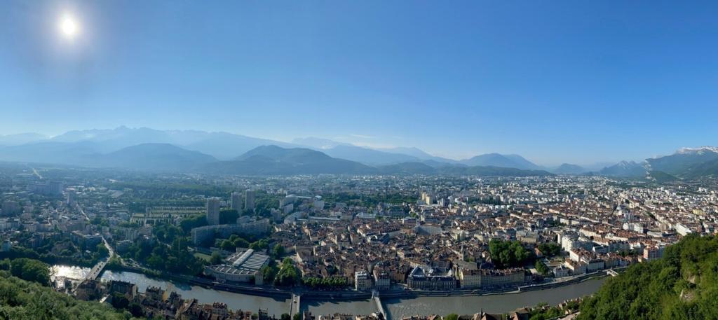 Grenoble vue depuis La Bastille